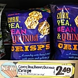 Corn, Pea, Bean, and Quinoa Crisps ($2)