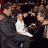 Pictured: JAY-Z, Blue Carter, Alicia Keys, and Beyoncé Knowles