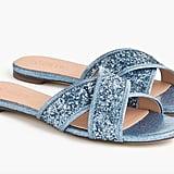 J.Crew Glitter Cora Crisscross Sandals