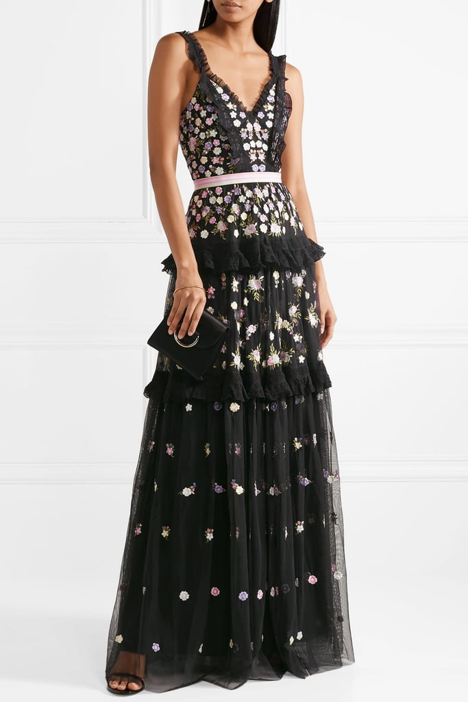 Needle & Thread Embroidered Tulle Gown