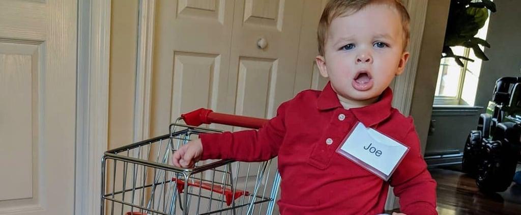 Kid Dressed as Grocery Store Joe For Halloween 2018