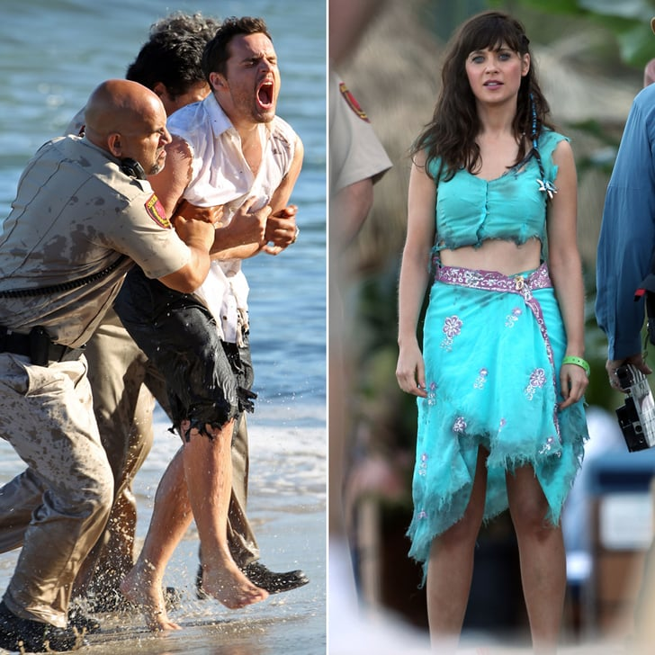 Zooey Deschanel and Jake Johnson Bring Beach Drama to the New Girl Set