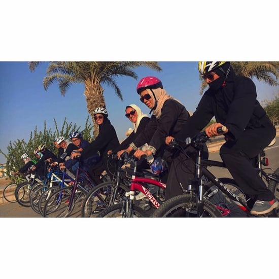 Female Cyclists in Jeddah