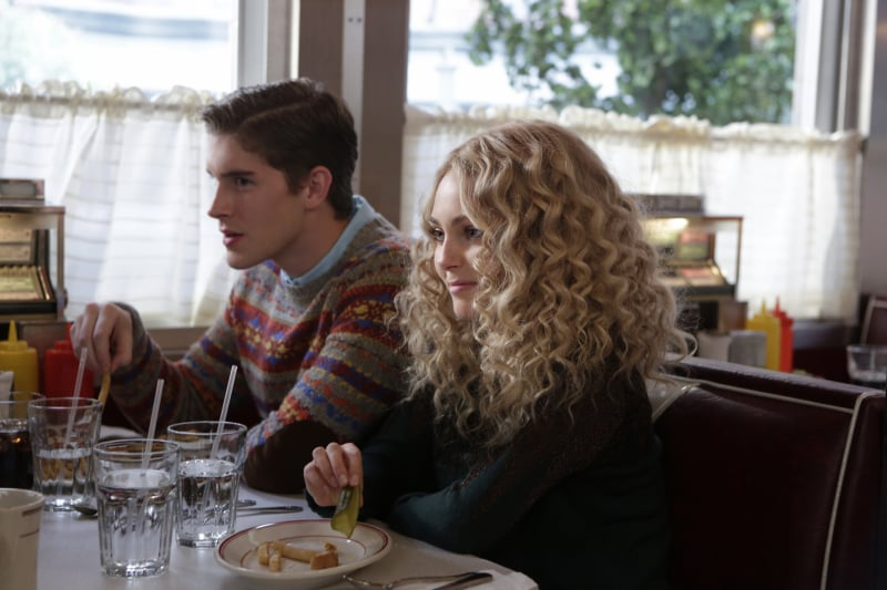 We usually report on all the female fashions, but we have to give credit where credit is due, and we are crushing hard on Walt's fair isle sweater. Get in on the borrowed-from-the-boys style by layering a chambray button-down under this printed Lands' End Canvas sweater ($60, originally $80). Source: The CW