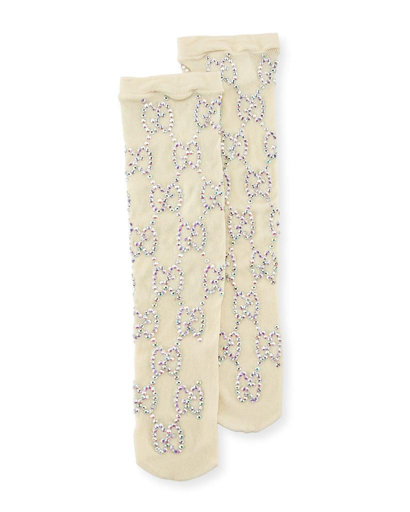 Gucci Knit Socks with Crystal Interlocking G