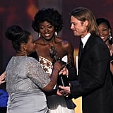 Octavia Spencer, Viola Davis, and Brad Pitt
