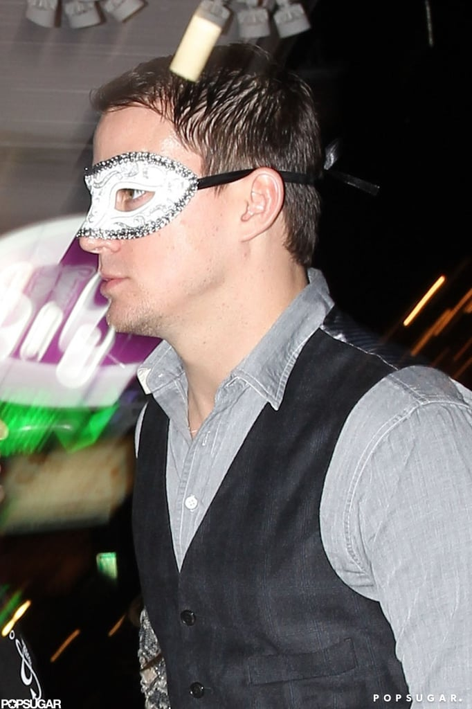 Channing Tatum wore a mask to his bar Saints and Sinners.