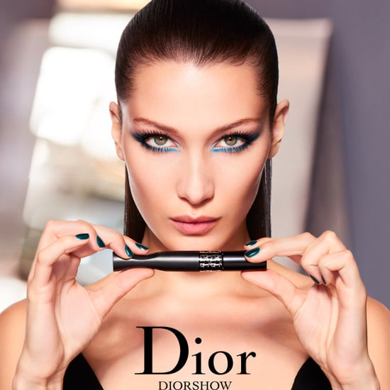 Bella Hadid Blue Cat Eye in DiorShow Pump'N'Volume Mascara