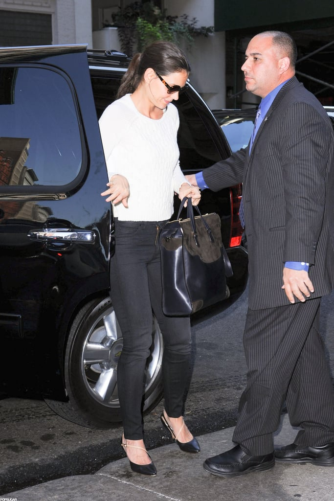 Katie Holmes headed out to lunch in NYC.