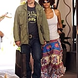 Halle Berry and Olivier Martinez enjoyed a day of shopping in Malibu.