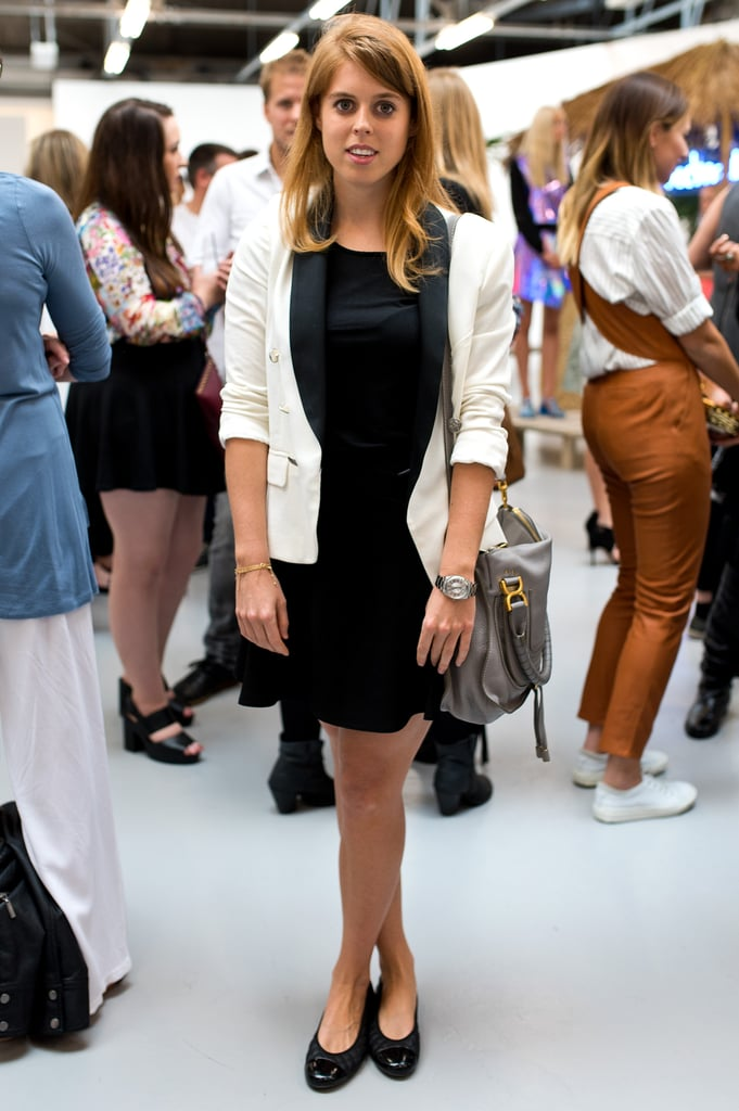 At the Markus Lupfer presentation during London Fashion Week in September 2014.