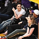 Kendall Jenner Gold Dragon Earrings and Yeezy Shoes 2019