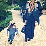 Rachel Zoe loved Skyler Berman's outfit for pajama day at school. Source: Instagram user rachelzoe