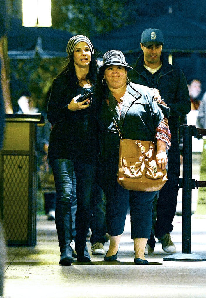 Sandra Bullock had her arm around Melissa McCarthy for a trip to Disneyland.