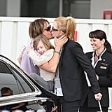 Reunion! Keith Urban looked like he really missed wife Nicole Kidman and their girls Sunday and Faith. He picked them up from the airport on January 29.