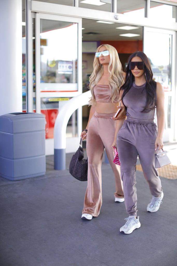 Kim Kardashian, Paris Hilton Skims Velour Collection Photos