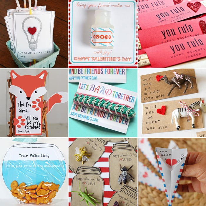 25 Easy Diy Valentines Day Gift And Card Ideas: DIY Printable School Valentine's Day Cards For Kids