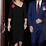 Kate Middleton Black Roland Mouret Dress November 2018