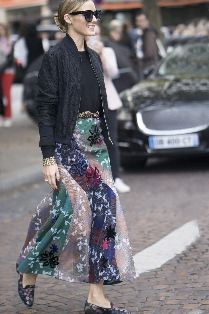 Olivia Palermo wearing Roland Mouret at Paris Fashion Week ...