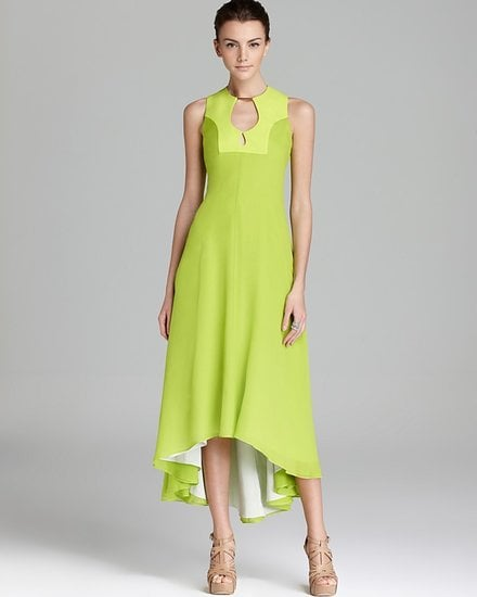 Don't worry about the somewhat shorter hemline on this Diane Von Furstenberg silk maxi dress ($895); the detailing at the neckline makes it formal enough for your black-tie weddings, while a pair of easy Summer wedges would make it perfectly appropriate for daytime nuptials.