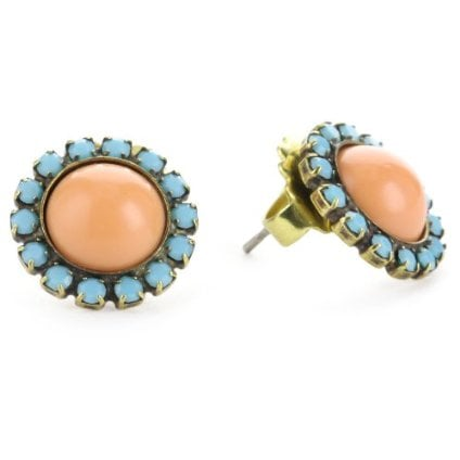 Sorelli Tropical Sparkling Stud Gold-Tone Earrings ($35)