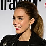 Jessica Alba gave a smile at the Condé Nast Traveler Hot List Party in LA.