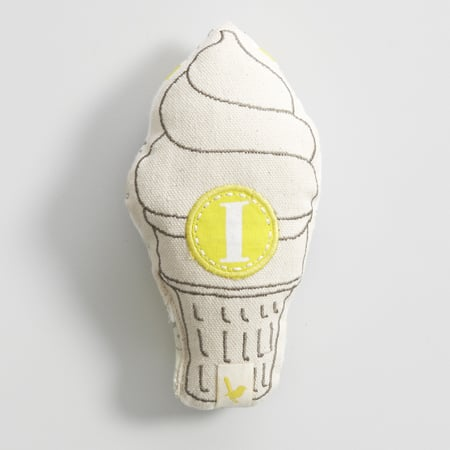 Mozi Ice Cream Baby Rattle ($19)