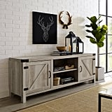 Modern Farmhouse Barn Door TV Stand