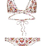 Verdelimón Merida Printed Triangle Bikini Top and Tunas Printed Bikini Briefs
