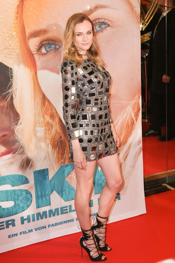 She opted to go short and sexy at the German premiere of Sky wearing a Marc Jacobs dress and Cesare Paciotti shoes.