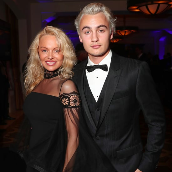 Pamela Anderson Son Brandon at Sean Penn's Haiti Gala 2017