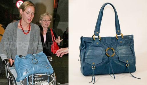 Found! Katherine Heigl's Blue Leather Handbag