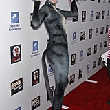 Heidi Klum bared her claws at her 2007 Halloween bash in LA.