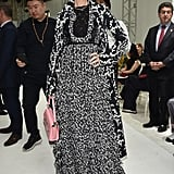 Wearing Giambattista Valli for the Couture show.