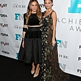 Sarah Jessica Parker and Nicole Richie posed together at the Fashion Footwear Association of New York Awards in Manhattan on Wednesday.