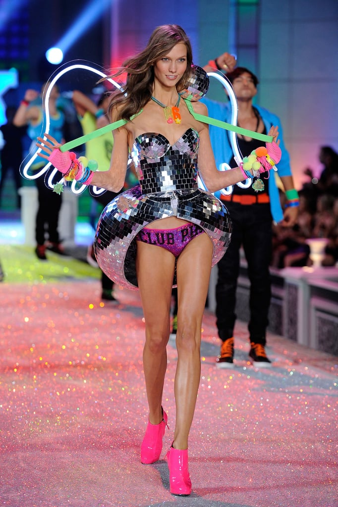 ce5d73c7fa5 Karlie Kloss was radiant in neon at the 2011 Victoria s Secret Fashion Show.