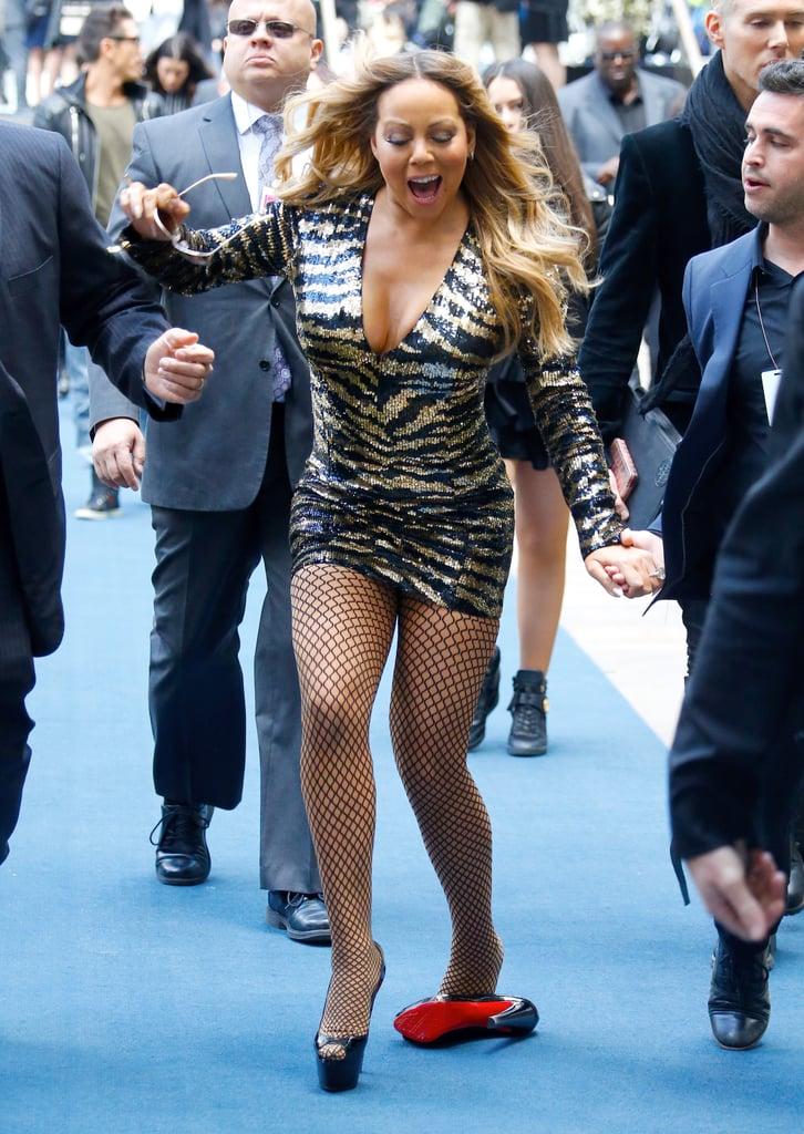 9e6920d1d01 Mariah Carey nearly suffered a fall while making her way to the red carpet  at the