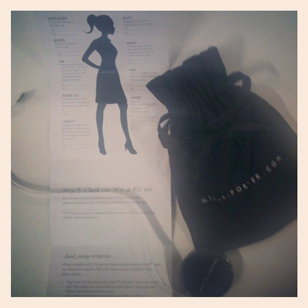 Did you know your first Net-a-Porter purchase comes this this tape measure and size guide treat?