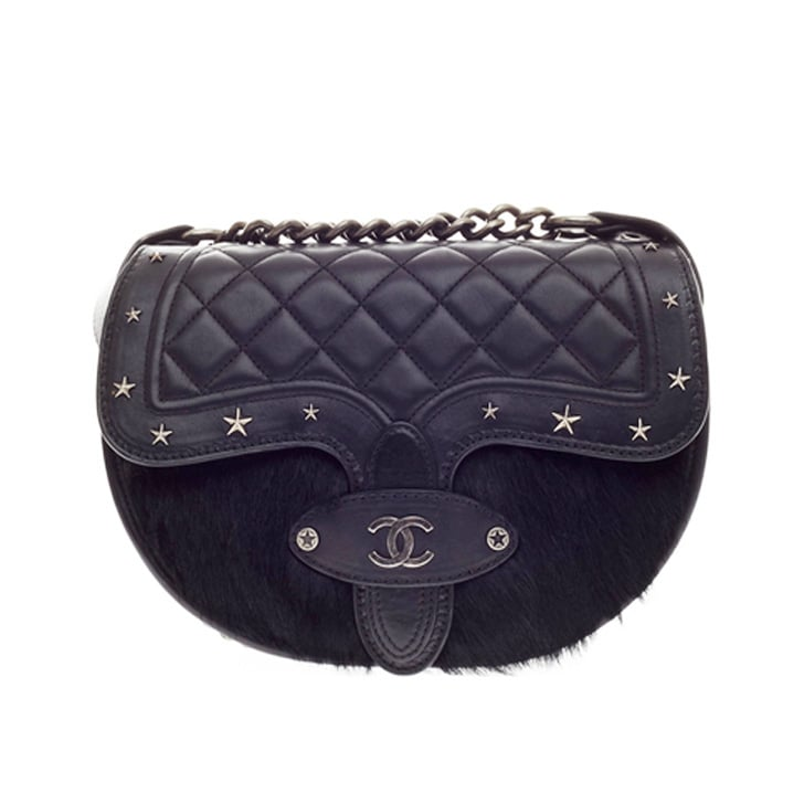 Chanel Vintage Dallas Studded Saddle Bag ($4,420)