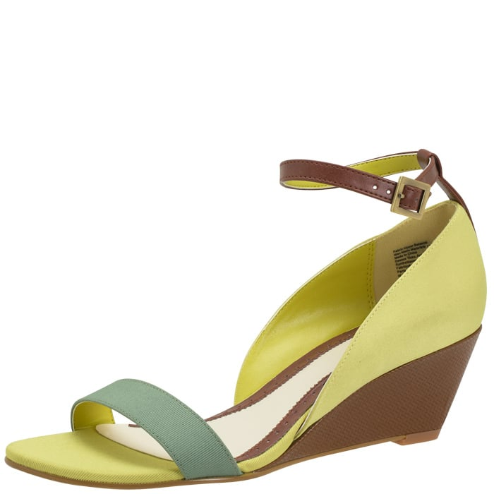Wedge sandals with neon colorblocking and ankle-strap detail — what's not to love? Lela Rose For Payless Clarendon Wedge ($40)