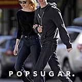 Emma Stone and Andrew Garfield were arm-in-arm for a stroll around NYC.