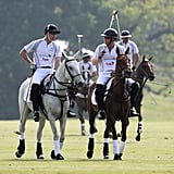 The duo took the polo field during the Audi Polo Challenge in May 2016.