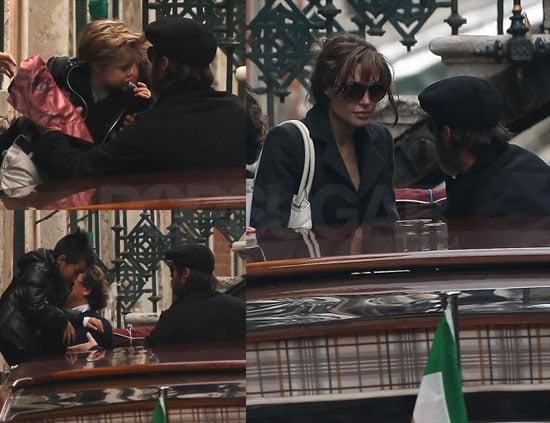 Photos of Brad Pitt, Angelina Jolie, Shiloh Jolie-Pitt, Zahara Jolie-Pitt, Maddox Jolie-Pitt in Venice