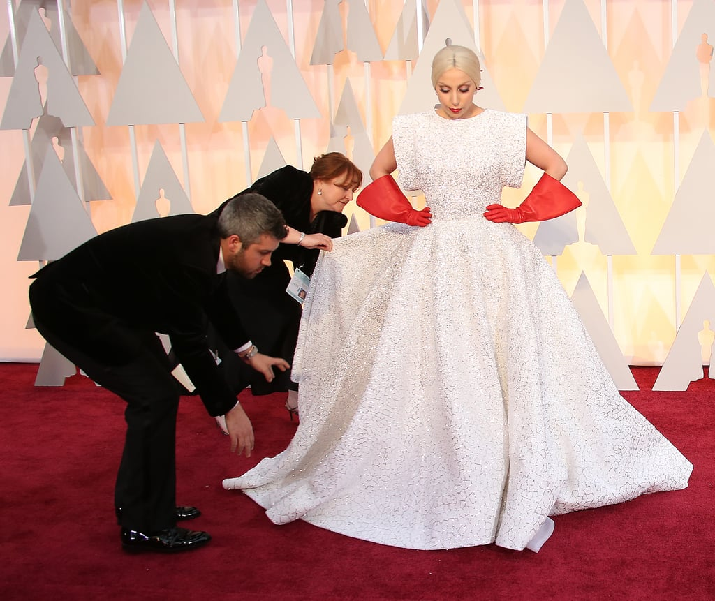 Lady Gaga in Azzedine Alaïa at the 2015 Oscars