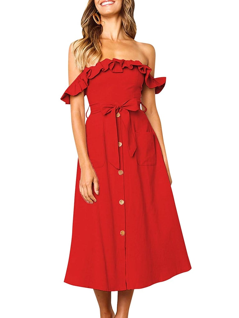 Boosouly Striped Linen Dress