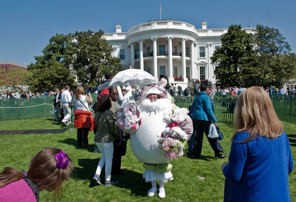 Plus a woman dressed as an Easter egg.