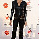 Brooke Burke wore a skintight catsuit at an LA celebration in 2012.