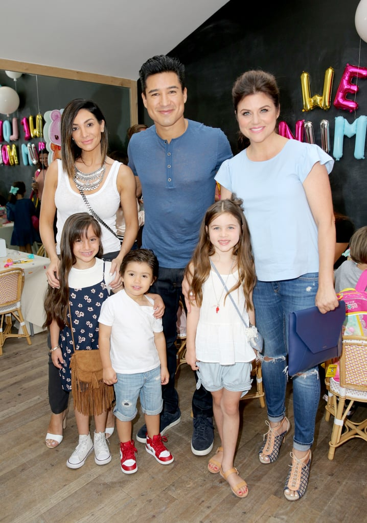 """Friends and former Saved by the Bell castmates Mario Lopez and Tiffani Thiessen were all smiles alongside their families at a Num Noms event in LA on Sunday. Mario and his wife, Courtney, snapped pictures with their daughter Gia and son Dominic (""""Nico""""). Meanwhile, Tiffani brought along her daughter, Harper, who sweetly put her arm around Nico for an Instagram snap. Check out some of the best pictures from the pair's reunion, then see Tiffani's sweet family photos and more of Mario's cute kids."""