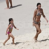 Pictures of Courteney Cox Bikini With Shirtless Josh Hopkins and Coco in St. Barts