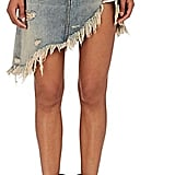 Our Pick: R 13 Women's Distressed Asymmetric Denim Skirt